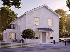 Stort 2-planhus i klassisk svensk stil - Ängsö från Myresjöhus House Yard, My House, New England Hus, Modern Barn House, Modern Homes For Sale, House Entrance, House Floor Plans, Home Fashion, Modern Classic