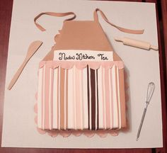 kitchen tea invitation - apron  (can change design on apron)