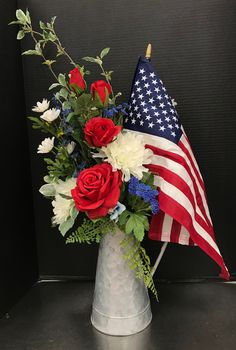 Patriotic Flag Arrangement in a Pitcher by Andrea Fourth Of July Decor, 4th Of July Celebration, 4th Of July Party, July 4th, Patriotic Crafts, Patriotic Party, July Crafts, Holiday Crafts, Memorial Day Decorations