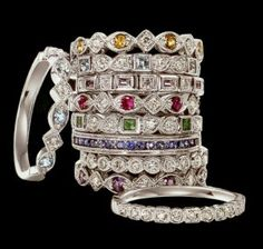 loveable rings ... birthstones of each child to stack maybe????