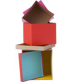 HEMA DIY - Set van 3 cadeaudozen met deksel.