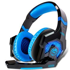 vots sqs 50mm diver unit big Headphones gaming headset with microphone for computer noise cancelling Over-ear head phone LED