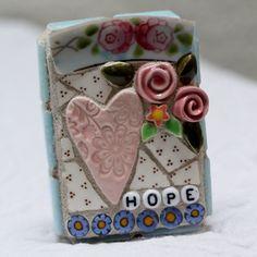 HOPE pique assiette mosaic art by Lisabetzmosaicart on Etsy, $23.00