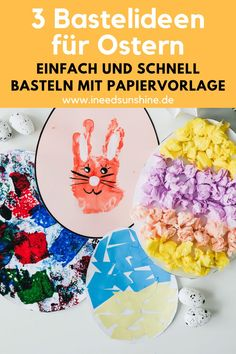 EASTER CRAFTS TODDLER: 3 ideas for simple paper Easter eggs! - Easter crafts with toddlers: 3 quick & easy ideas for paper Easter eggs – with a template. Spring Toddler Crafts, Easy Toddler Crafts, Easter Crafts For Toddlers, Summer Crafts, Fall Crafts, Toddler Activities, Christmas Crafts, Craft Stick Crafts, Diy Crafts