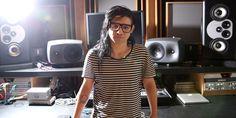 #Skrillex en su estudio de grabación.