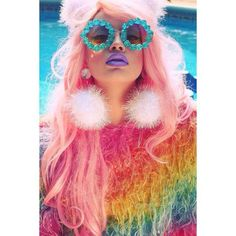 Unicorn wig hair make up makeup photoshoot selfie rainbow gay pride weave Lilac pink girly cute sassy punk grunge alien hologram fluff fashion editorial Makeup Photography, Editorial Photography, Fashion Photography, Spice Girls, Gay Pride, Pastell Fashion, Iridescent Fashion, Fashion Editorial Makeup, Beauty Editorial