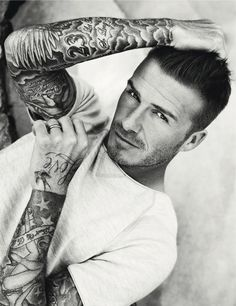 I have a weakness for tattooed men and David Beckham