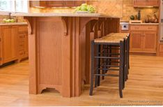 #Kitchen Idea of the Day: Gorgeous craftsman-style kitchen island (By Crown Point Cabinetry)