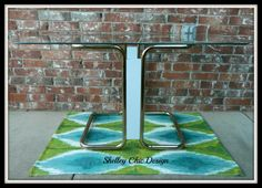 Vintage Brass and Glass Dining Table :: shelleychicdesign/Etsy, $150