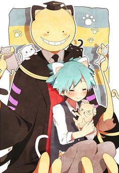 Neko Koro Sensei and Nagisa Koro Sensei Quest, Manga Anime, Classroom Pictures, Nagisa And Karma, Nagisa Shiota, Doujinshi, My Idol, Anime Characters, Otaku