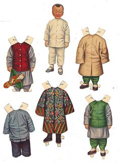 Chinese Paper Dolls Boy, via Flickr.* 1500 free paper dolls for small Christmas gits and DIY for Pinterest pals The International Paper Doll Society Arielle Gabriel artist ArtrA Linked In QuanYin5 *