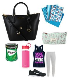 """Going to run☺️"" by leila-hussain ❤ liked on Polyvore featuring Kate Spade, adidas and NIKE"