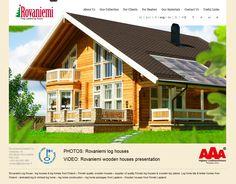 www.loghouse.fi web site for Rovaniemi Log House in Finnish Lapland made by my company www.joulupukkitv.com