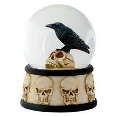The Raven snow globe