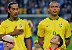 Ronaldinho & Ronaldo.  Brazilians soccer Stars.