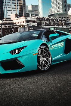 Tiffany Lamborghini Aventador Roadster- How about this to go along with her Tiffany engagement ring? Just sayin.My future wife gonna be ridin fly! Lamborghini Aventador Roadster, Blue Lamborghini, Ferrari, Vin Diesel, My Dream Car, Dream Cars, Top 10 Supercars, Convertible, Volkswagen