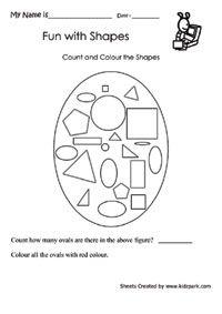 Shapes worksheets for kids