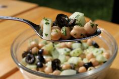 Chickpea & cucumber salad.  I haven't been a fan of chickpea flour, but maybe I should keep an open mind and try this.