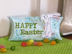 Scrap Savvy Creations: Easter Pillow Boxes for Magenta April Challenge Easter Pillows, April Challenge, Paper Towel Rolls, Pillow Box, Happy Easter, Magenta, Upcycle, Mixed Media, Scrap