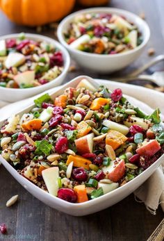 Harvest Quinoa Salad   This gluten-free, vegan quinoa salad is full of fall flavor and perfect for Thanksgiving!