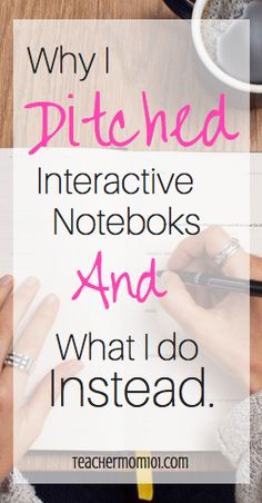 Why I stopped using Interactive Notebooks and What I do Instead - Teacher Mom 101 Switching to Cornell Notes (a more realistic approach for college)! Note taking! Ela Classroom, Science Classroom, Classroom Organization, Future Classroom, Classroom Management, Middle School Management, Classroom Ideas, Classroom Procedures, Google Classroom