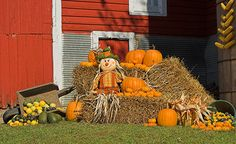 decorating with straw bales - Google Search