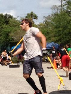 That's our boy Kyle from   www.crossfittampabay.com pullin that tire.