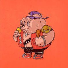Fat Bebop   #Illustration #Geek