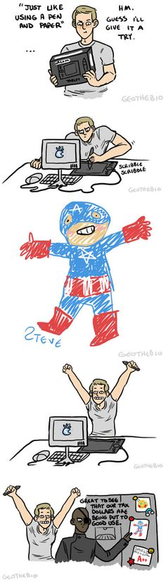Steve rogers digital art learning how to use technology art fridge drawing fury tax dollars
