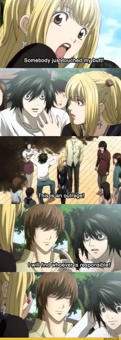Light's face is priceless! XD ~ Death Note<<< you need to calm the fuck down on your drugs and give them to me. << no but seriously, Light's face is just done.