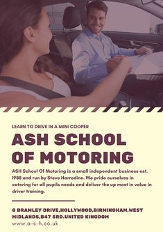 ASH School of Motoring is dedicated to the training of all our pupils to the highest standard of driver and road safety whether you are a complete novice, test failure, nervous driver or you are at advanced level.