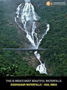 It is a four-tiered waterfall located on the Mandovi River in the border of the Indian state of Goa and Karnataka. #IncredibleIndia #DudhsagarFalls #InternationalConference