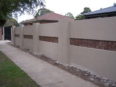 find this pin and more on home garden fence designs - Brick Wall Fence Designs