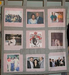 Nine Panel Photo Memory Heirloom Quilt  Made to by McGarritys, $100.00