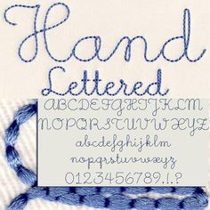 Embroidery Alphabet, Learn Embroidery, Hand Embroidery Stitches, Silk Ribbon Embroidery, Embroidery Fonts, Hand Embroidery Designs, Embroidery Techniques, Embroidery Applique, Cross Stitch Embroidery
