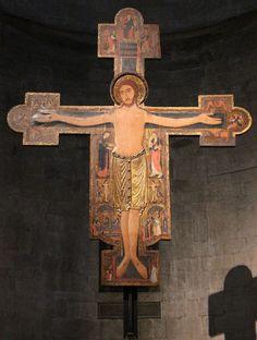 Pittore lucchese, Crocifisso 1150-1200 circa, chiesa di San Michele in Foro, Lucca, Toscana, Italia