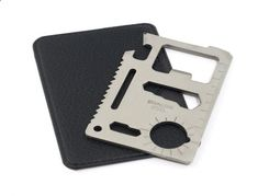 Credit Card Multitool - 11 in 1 Credit Card Wallet Knife. Stainless Steel Survival Multitool Utility. Perfect Tool for Bug Out Bag, Camping or Fishing. Tools Include Knife, Saw, Bottle Opener, Can Opener, Slot Head Screwdriver, Ruler, 4 Position Wrench and More! by Rayburn Fishing