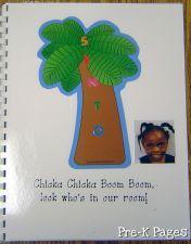 Chicka Chicka Boom Boom Class Book for preschool and kindergarten