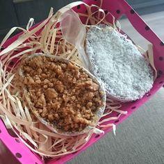 Delícia   @bonsdebico ovos de colher Veganos de paçoca e de coco. by juliana.urquisa
