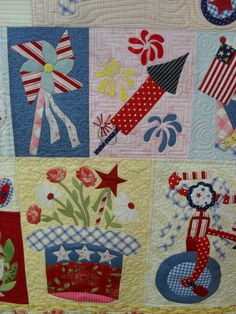 https://flic.kr/p/9Q3uik | 4th of July | Pieced by Audrey Hill Quilted by Jessica's Quilting Studio