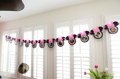 Minnie Mouse Birthday Party ~ Newborn-12 month picture banner