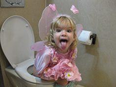 Dragon Butterfly on toilette