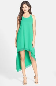 Free shipping and returns on BCBGMAXAZRIA Double Layer High/Low Georgette Midi Dress at Nordstrom.com. This enchanting double-layer dress exudes airy sunny-day appeal with easy spaghetti-strap tank styling and an asymmetrical high/low midi skirt.