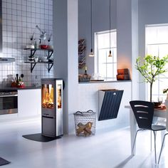 Wood burning, multi-fuel & gas stoves Glasgow at Stove World Glasgow. We stock Charnwood & Contura stoves with live displays in our Glasgow stove showroom. Modern Wood Burning Stoves, Wood Stoves, Fireplace Gallery, Stove Installation, Interior Design Gallery, Stove Fireplace, Log Burner, Farms Living, New Living Room