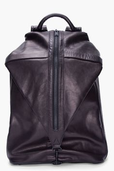 3.1 Phillip Lim Black Drop Down Backpack for men | SSENSE