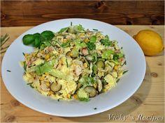 Salată cu paste, piept de pui și porumb – Vicky's Recipes Sprouts, Potato Salad, Potatoes, Vegetables, Ethnic Recipes, Food, Salads, Potato, Essen