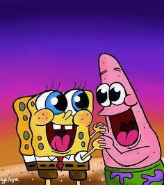 Cartoon Wallpaper Iphone, Disney Phone Wallpaper, Cute Cartoon Wallpapers, Wallpaper Spongebob, Spongebob Painting, Spongebob Drawings, Spongebob Cartoon, Wallpaper Collage, Cute Wallpaper Backgrounds