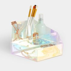 Beautify Acrylic Makeup Beauty Organiser Display Holographic Tray Tabletop For Holographic Makeup, Dressing Table Storage, Dressing Table Vanity, Jewellery Boxes, Jewellery Storage, Beauty Organiser, Acrylic Makeup Storage, Cocktail Maker, Organizers
