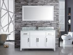 "Ricca 48"" Single Sink Bathroom Vanity Set"
