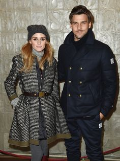 Olivia and her husband, Johannes, showed off their chic outerwear at the Moncler presentation.